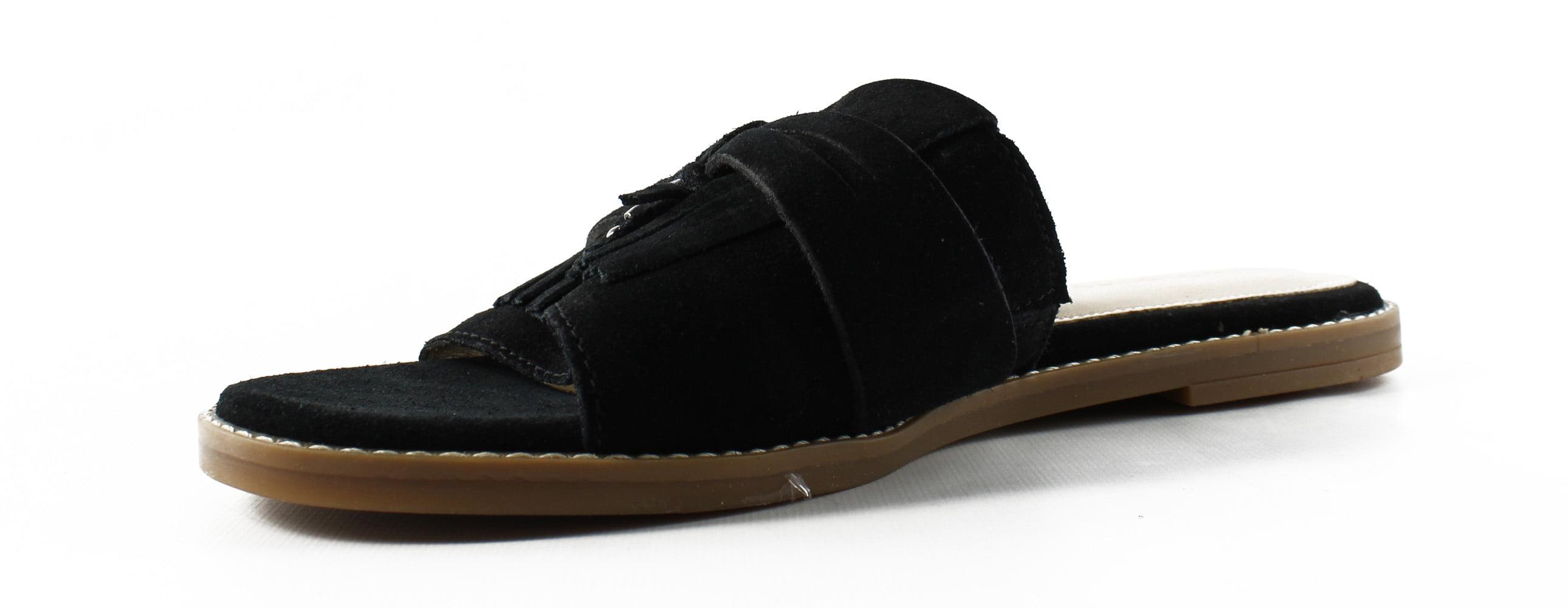New HushPuppies Size Womens Hw06108-002 Black Slides Size HushPuppies 9.5 4edaf8