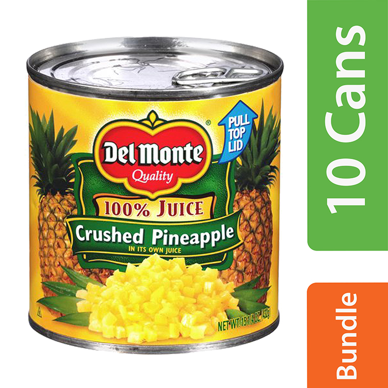 (10 Pack) Del Monte Crushed Pineapple in 100% Juice, 15.25 oz