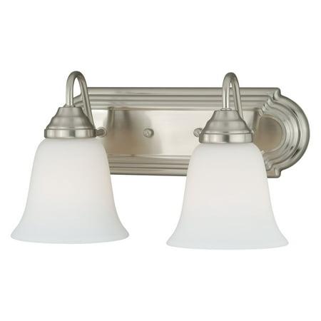 Series 2 Light Vanity - Vaxcel Lighting 708 Series W013 2 Light Bathroom Vanity Light