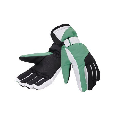 Women's Thinsulate Lined Waterproof Outdoor Ski Gloves, S, - Green Gloves