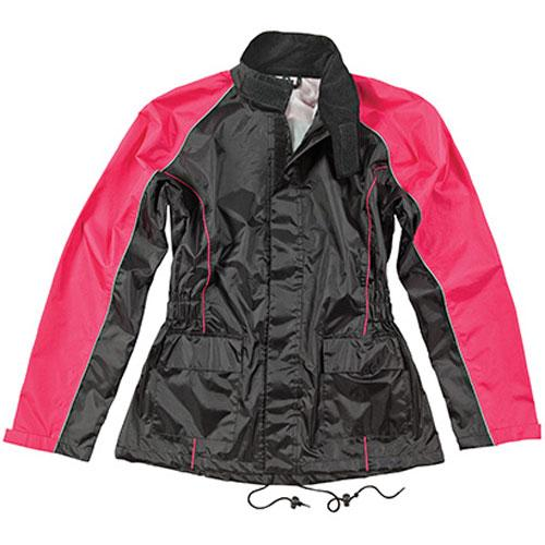 Joe Rocket RS-2 Womens 2-Piece Rain Suit Black/Pink