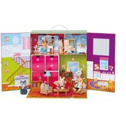 Calico critters adventure tree house gift set - Calico critters deluxe living room set ...