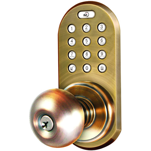 Morning Industry Inc QKK-01SN 3-In-1 Remote Control and Touchpad Door Knob, Satin Nickel