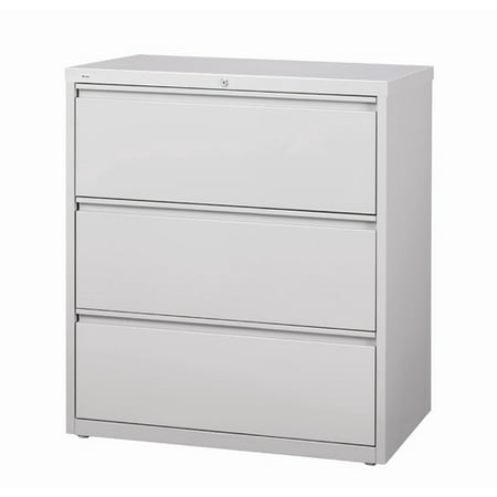 Hl10000 Series 30 Inch Wide 3 Drawer Lateral File Cabinet Light Gray