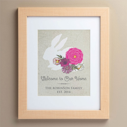 "Personalized Our Home 11"" x 14"" Framed Rabbit Print"