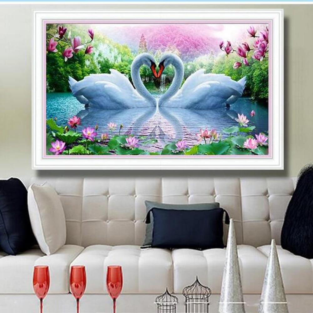 Girl12Queen Goose Animal 5D Diamond Painting Cross Stitch Kit DIY Craft Bedroom Cafe Decor