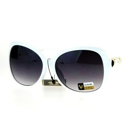 9caf04454e20 Pearl Jewel Luxury Womens Oversize Butterfly Diva Sunglasses White Smoke -  Walmart.com