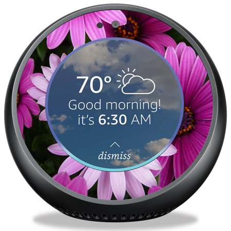 Skin For Amazon Echo Spot   Purple Flowers  Mightyskins Protective  Durable  And Unique Vinyl Decal Wrap Cover   Easy To Apply  Remove  And Change Styles   Made In The Usa