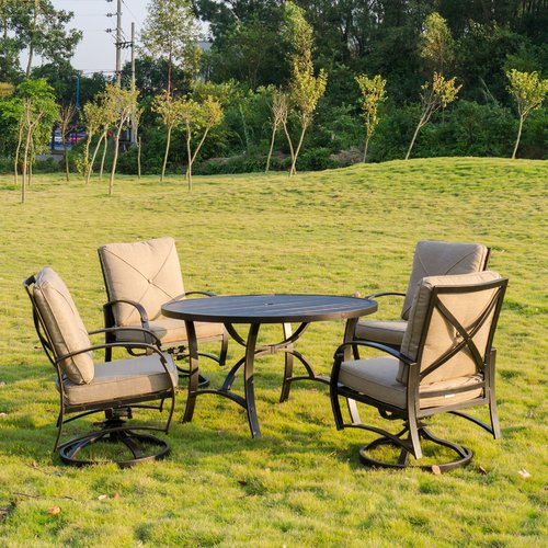 Darby Home Co Kemper 5 Piece Dining Set with Cushions
