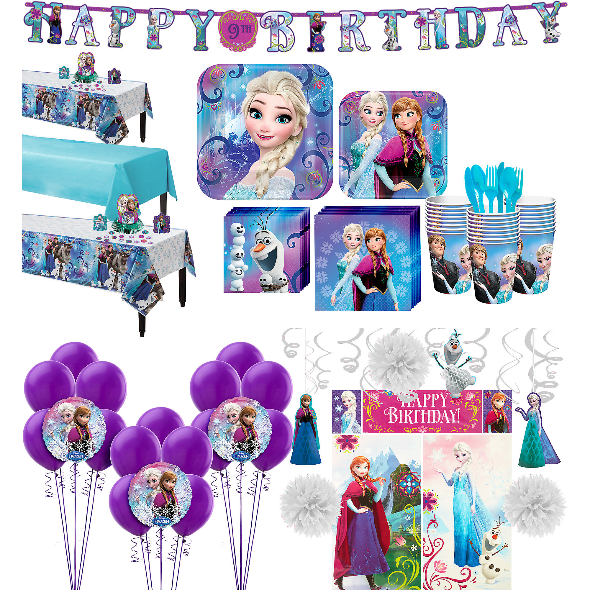 Frozen Table Decorating Kit Birthday Party Decorations