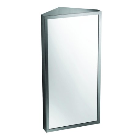 Stainless Steel Brushed Corner Wall Mount Medicine Cabinet