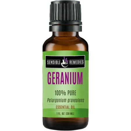 Sensible Remedies Geranium 100% Therapeutic Grade Essential Oil, 30 mL (1 fl