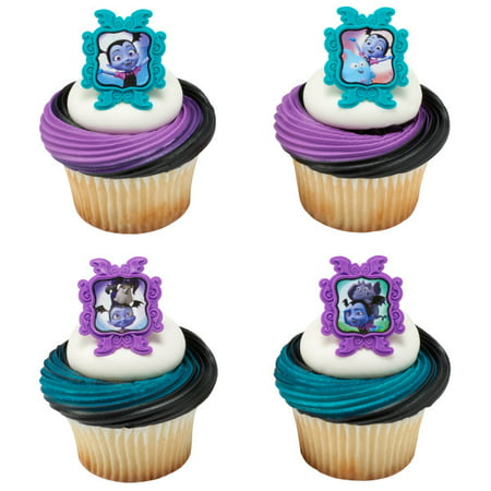 24 Vampirina Sweet As Can Vee Cupcake Cake Rings Birthday Party Favors - Caterpillar Cupcakes