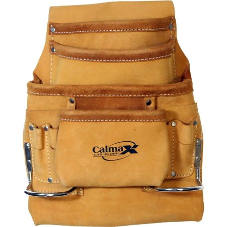 TOP GRAIN LEATHER 10 POCKET TOOL POUCH :  ( Pack of  1 Pcs. )