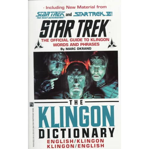 The Klingon Dictionary: English/Klingon Klingon/English