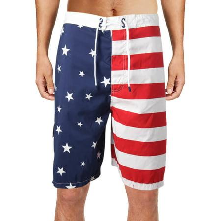 3fe9c2d63d Polo Ralph Lauren - Polo Ralph Lauren Mens Big & Tall Kailua Flag Print  Swim Trunks Red 3XB - Walmart.com