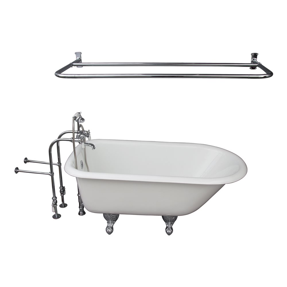 "Barclay TKCTRN54CP5 54"" Cast Iron Tub Kit with Porcelain ..."