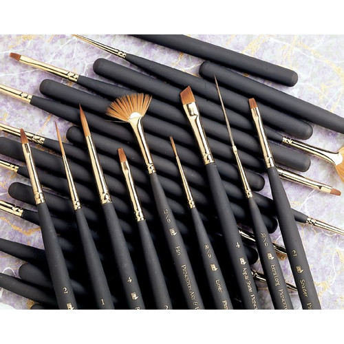 Princeton Brush Mini-Detailer Synthetic Sable Brush, Liner, 1