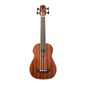 Kala Wanderer U-Bass Satin Mahogany Acoustic Electric UBASS-WNDR-FS w| Gig Bag