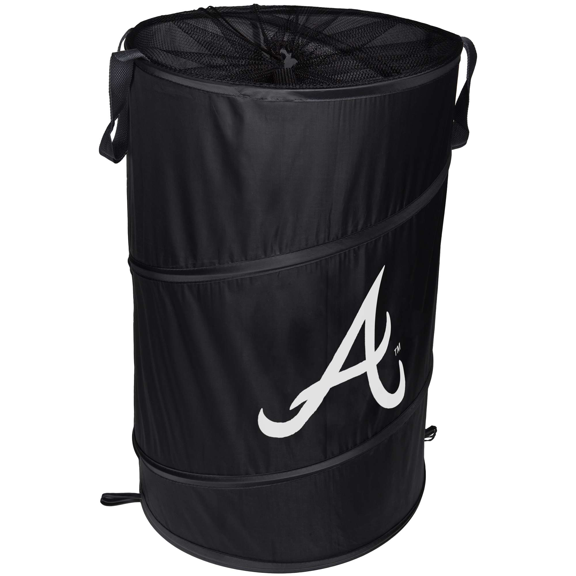 Atlanta Braves Cylinder Pop Up Hamper - No Size