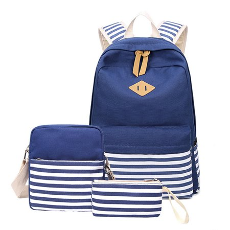 Bocgsfdfgns - Bocgsfdfgns 3 pcs Canvas School Backpack For Teen Girls d04514dcc2196