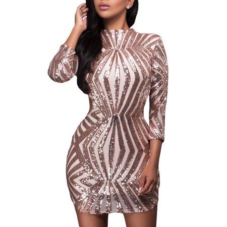 made2envy Walmart Sequin Detail Open Back Party Mini Dress ()