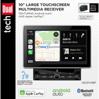 Dual Electronics XDCPA11BT 10″ Double DIN In-Dash Car Stereo with Built-In Apple CarPlay