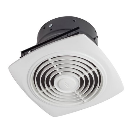 Broan 8 Inch 180 CFM Vertical Discharge Fan with White Square Plastic - Bath Fan Grille