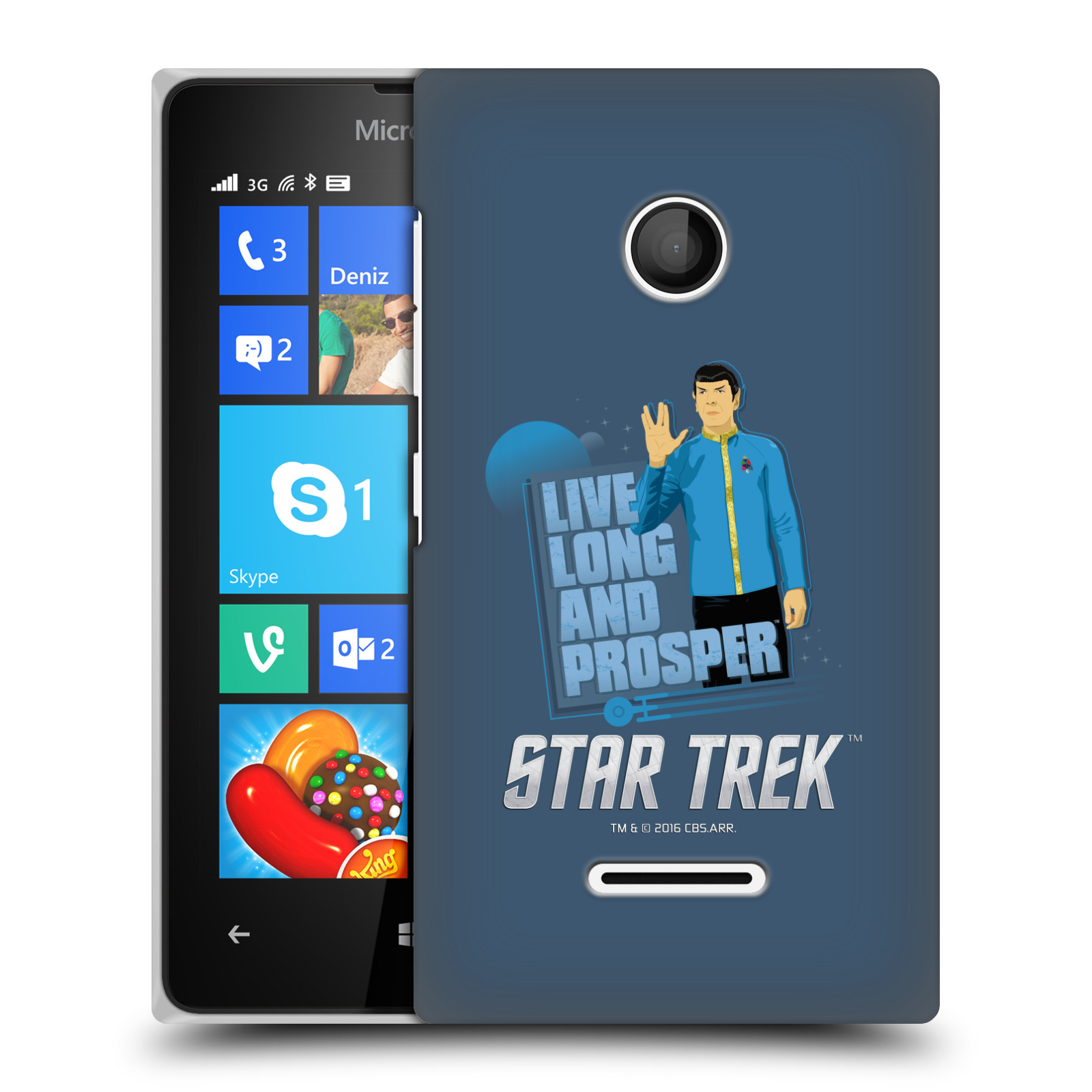 OFFICIAL STAR TREK EMBOSSED ICONIC CHARACTERS TOS HARD BACK CASE FOR MICROSOFT PHONES