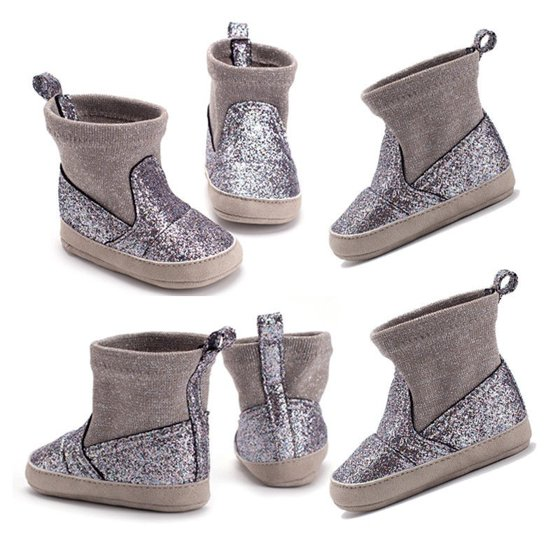 c2ec70ae6d50 Canis - Baby Girl Glitter Snow Boots Winter Booties Infant Toddler ...