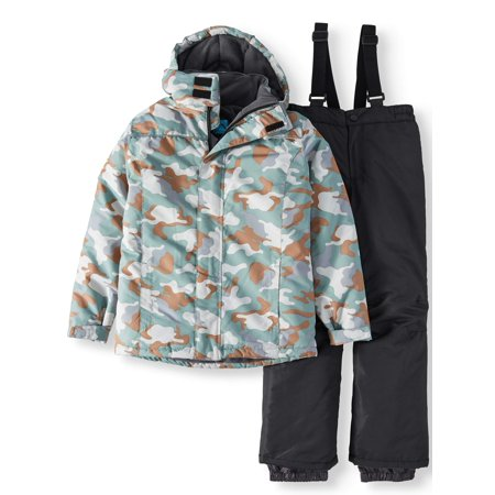 Iceburg Big Boy's Insulated Hood Jacket and Snow Bib 2-Piece Set