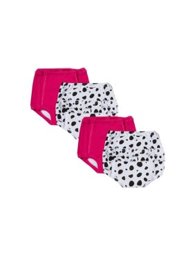 Gerber Reusable Training Pants Bundle, Polka Dot, 4-pack (Baby Girls)