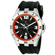 Tommy Hilfiger Men's 1791064 Black Dial Black Silicone Strap Date Watch