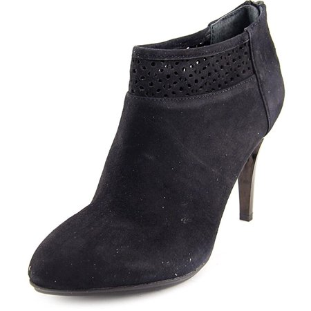 Womens Saille Suede Pointed Toe Ankle Fashion Boots