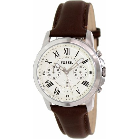 Fossil Men's Grant FS4839 Brown Leather Quartz Fashion Watch