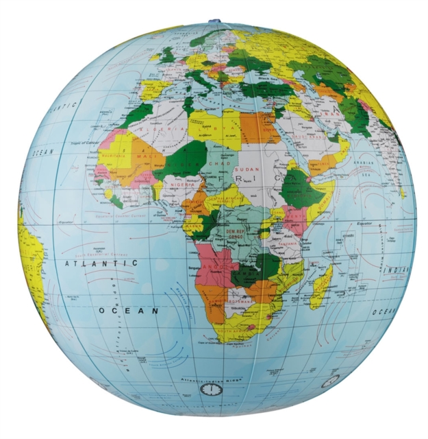16' Light Blue Political Inflatable Globe (Map)