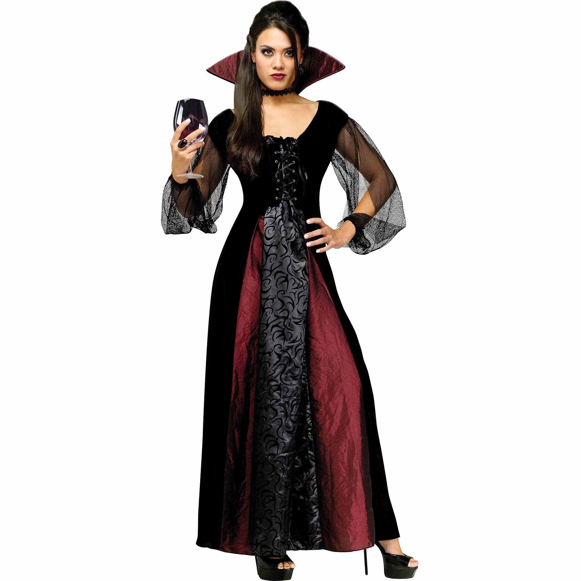 sc 1 st  Walmart & Fun World Gothic Maiden Vampiress Adult Halloween Costume - Walmart.com