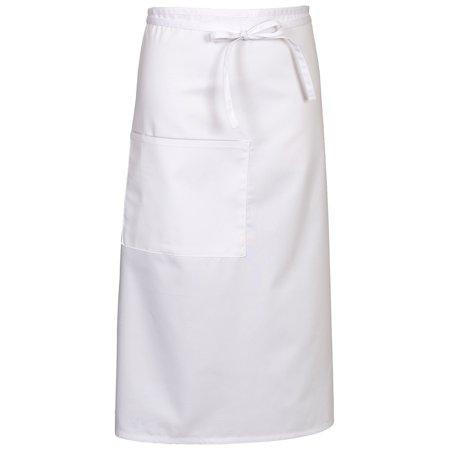 Fame Fabrics 81696 E24 WHITE BISTRO APRON ONE SIZE