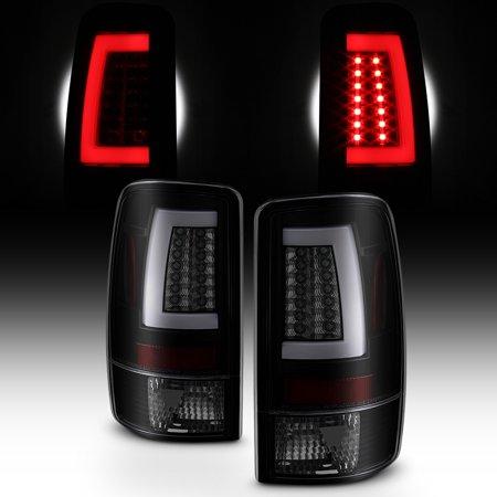 Fits 2000-2006 Chevy Suburban Tahoe GMC XL LED Light Bar Tail Lights Black Smoke