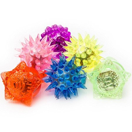 Fun Central AC809 Flashing Rings,Jelly Rings,Kids Party Supplies - Assorted 72 pcs