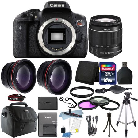 Canon EOS Rebel T6 DSLR Camera + EF-S 18-55mm IS II Lens Kit + 16GB
