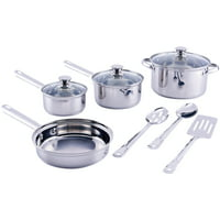 Deals on Mainstays Stainless Steel 10 Piece Cookware Set