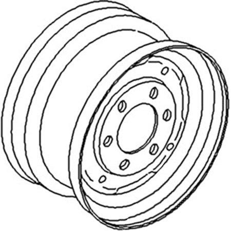 1611404M1 New Front Wheel Rim Made for Massey Ferguson
