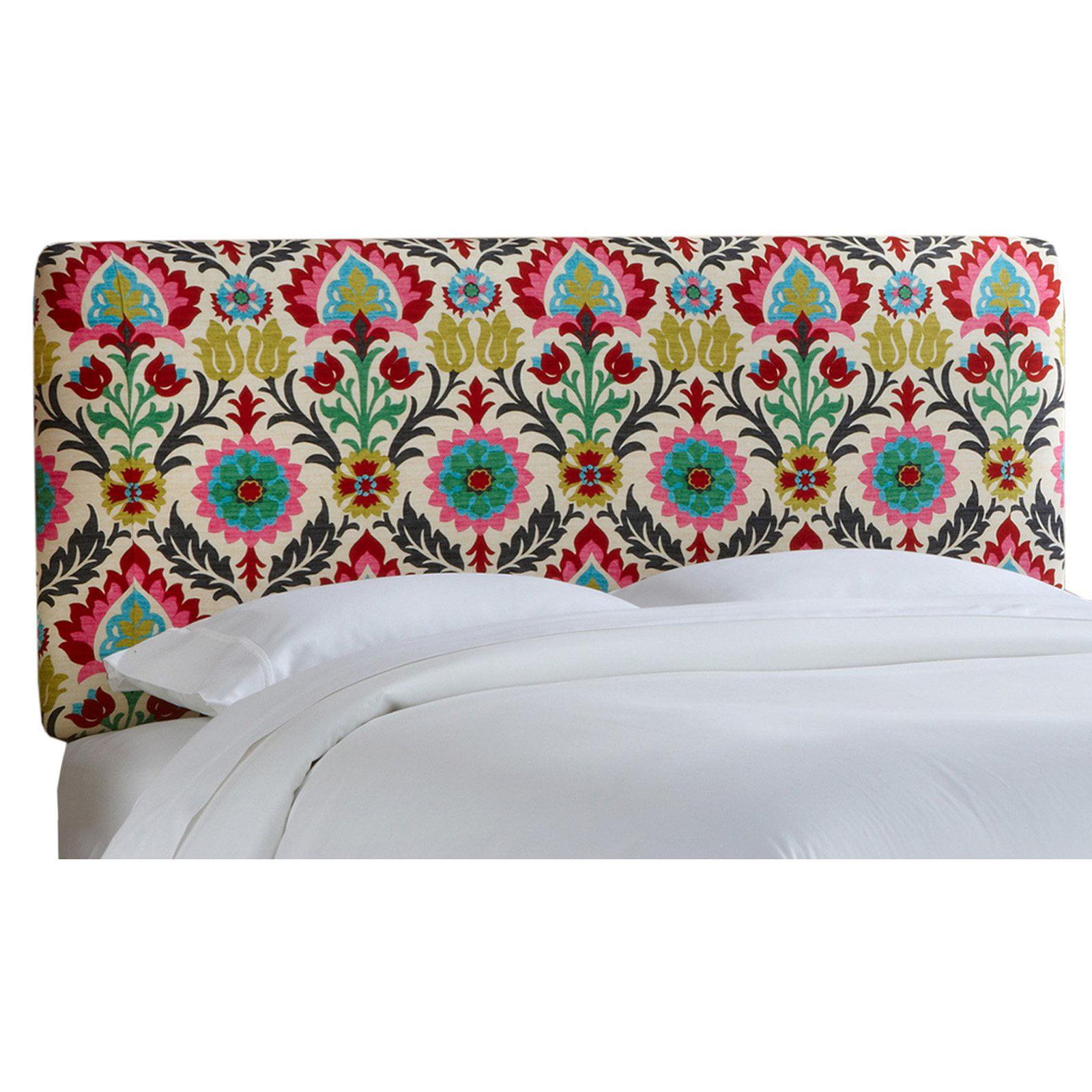 Santa Maria Desert Flower Border Upholstered Headboard Walmart