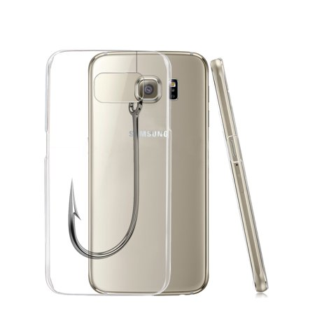 KuzmarK™ Samsung Galaxy S6 Edge Clear Cover Case - Fishing Hook
