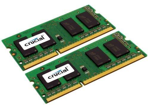 Crucial 8GB DDR3 SDRAM Memory Module - 8 GB (2 x 4 GB) - DDR3 SDRAM - 1600 MHz - Non-ECC - Unbuffered - 204-pin SoDIMM