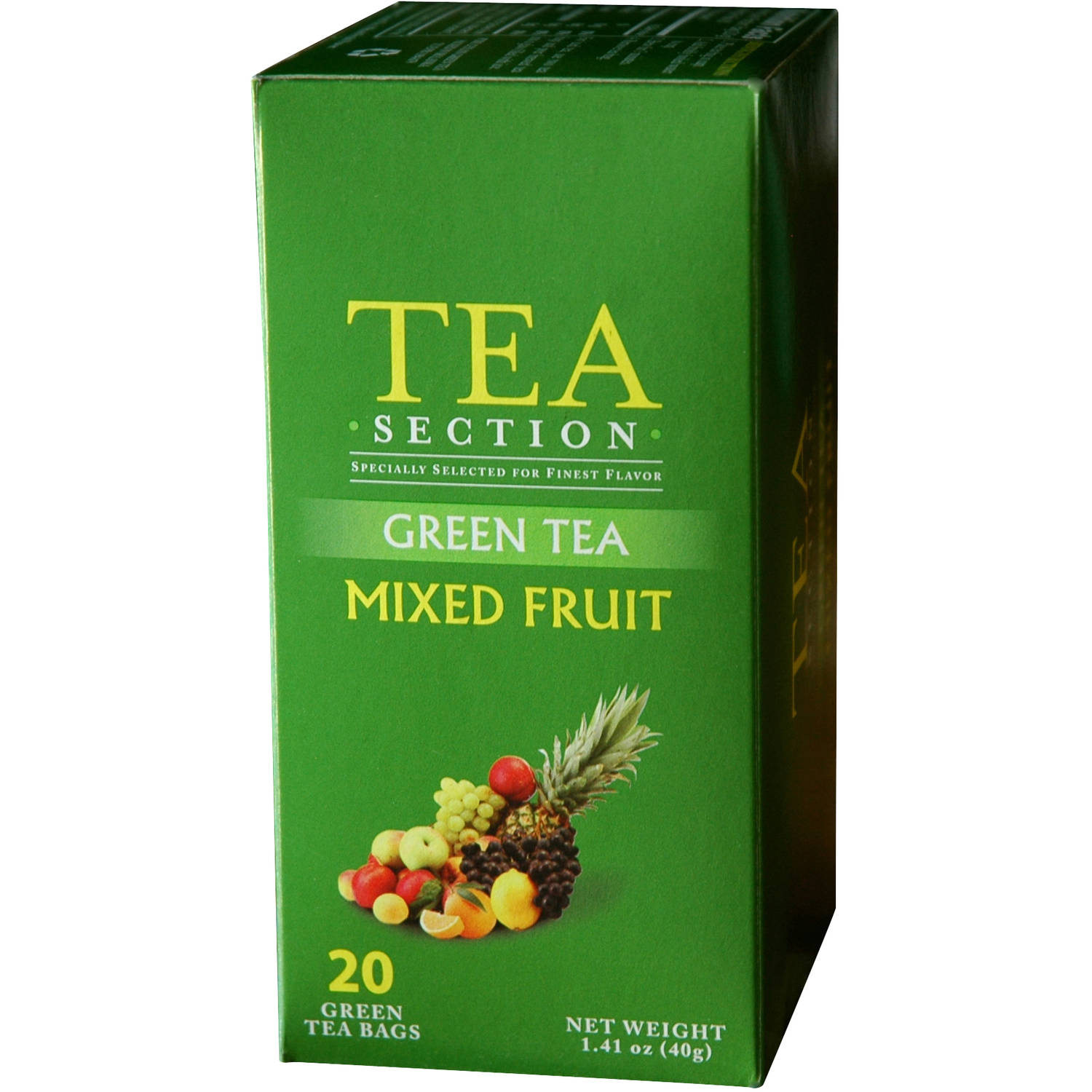 Tea Section Mixed Fruit Green Tea Bags, 20 count, 1.41 oz