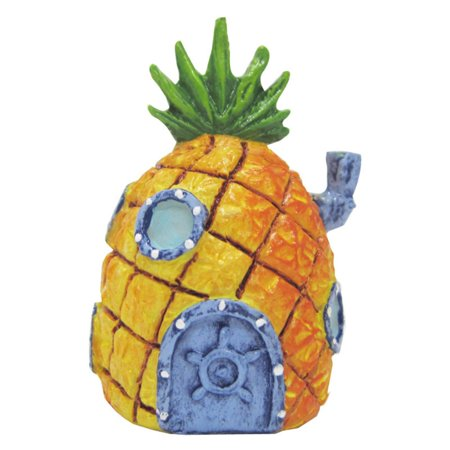 Home Aquarium Tanks - Penn Plax SpongeBob 2 in. Mini Pineapple Home Aquarium Figure