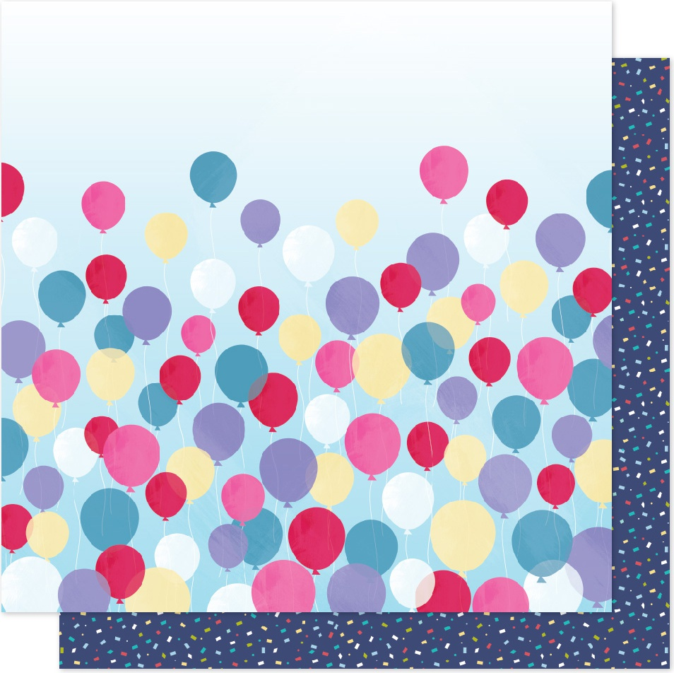 """Shimelle Sparkle City Double-Sided Cardstock 12""""X12""""-Time To Party - image 1 of 1"""