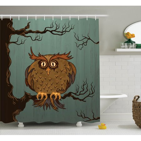 Owls Home Decor Exhausted Hangover Tired Owl In Oak Tree With